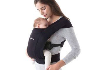 Ergobaby Embrace Cozy Newborn Baby Wrap Carrier  7 25 Pounds  Pure Black  RETAIl  79 00