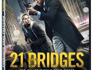 21 Bridges  DVD   Chadwick Boseman   Great STOCKING STUFFER  RETAIl  11 98