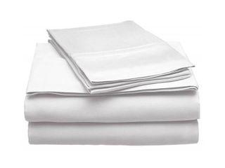 eluxury 300 Thread Count Modal Sheet Set  White  Full  RETAIl  102 99