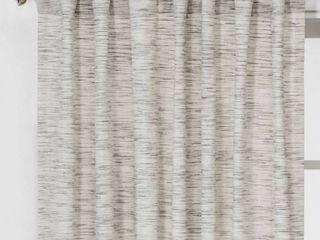 SET OF 2  Striation Herringbone light Filtering Window Curtain Panel   Project 62  White Gray  84   RETAIl  49 98