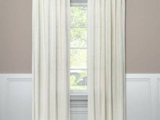 SET OF 2  Velvet Curtain Panel   Project 62  Cream  108   RETAIl  79 98
