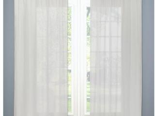 SET OF 2  Sheer linen Curtain Panels 84 x54    Threshold  Natural linen  RETAIl  39 98