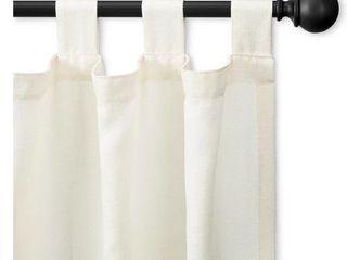 Double Ball Curtain Rod   Threshold   66 120  Matte Black  RETAIl  36 99