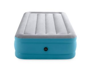Intex Raised Airbed 16  Air Mattress with Hand Held 120V Pump   Twin Size  RETAIl  39 99