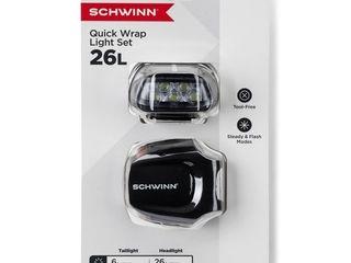 Schwinn Quick Wrap Bike lights 26 lumen a Black  RETAIl  14 99