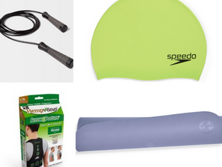 Fitness lOT  Manduka Welcome Yoga Mat   lavender  5mm  Hempvana Posture Support l Xl  Solid Silicone Speedo Cap  Speed Rope Gray   All In Motion  RETAIl  84 46