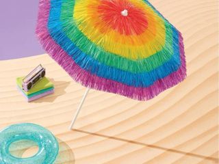 6ft Tassel Umbrella with Anchor Sand   Sun Squad  RETAIl  27 00