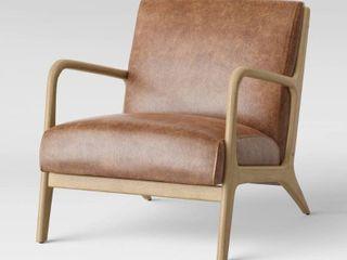 Esters Wood Armchair   Project 62   Carmel Faux leather  RETAIl  300 00
