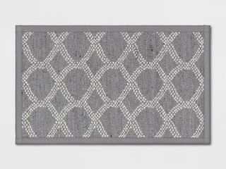 20 x34  Flat Weave Kitchen Rug Gray   Threshold  RETAIl  14 99