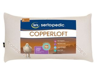 lOT OF 2 Sertapedic Copperloft Pillow  King Size  RETAIl  25 92