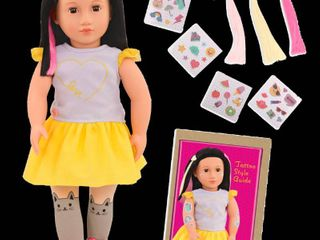Our Generation Aisha   18 inch Deco Doll with Glowing Tattoos  RETAIl  29 99