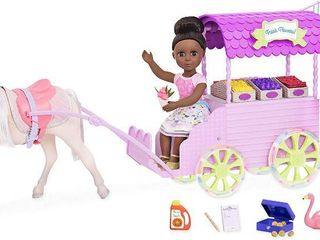 Glitter Girls by Battat a Flower Carriage for 14 inch Dolls  RETAIl  39 95