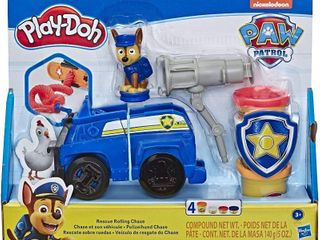 Play Doh Paw Patrol Rescue Rolling Chase Toy Police Cruiser Figure   Vehicle Set with 4 Colors Doh  RETAIl  14 99