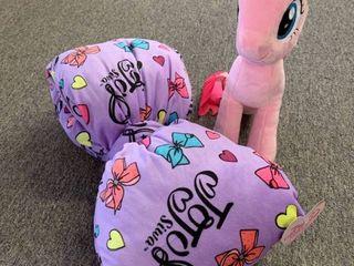 JoJo Siwa Bow Pillow   My little Pony The Movie Pinkie Pie Plush  RETAIl  44 98