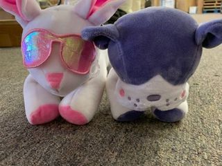 lOT OF 2 More Than Magic Pencil Case   Boston Terrier   Bunny w  Sunglasses  RETAIl  14 00