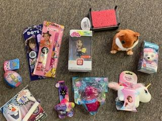 Girl Stocking Stuffer lot including Hatchimals  lEGO  Tangle Pets   More  RETAIl  65 00
