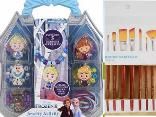lOT  Disney Frozen 2 Necklace Activity Set   10 ct Paint Brush Sampler by Hand Made Modern  RETAIl  22 28