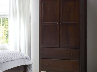 Grain Wood Furniture Shaker 2 door Solid Wood Armoire Cherry Finish   41x72x22 Retail 651 49