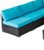 kinbor outdoor cushioned wicker   double seat portion of set only