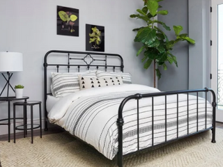Copper Grove Tonumeia Matte Black Metal Panel Bed Retail 606 99