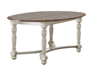 The Barn Hill Dale Oval Dining Table   49  x 30  x 74