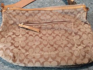 Authentic Coach Brown and Tan purse