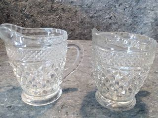 2 Wexford Crystal Creamer Dishes