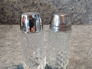 2 Wexford Crystal Salt and Pepper Shakers