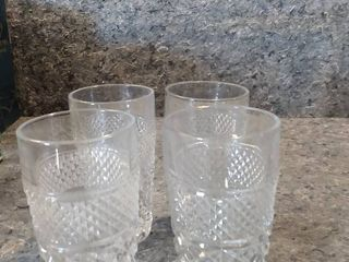 4 Wexford Crystal Tall Drinking Glasses