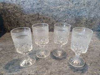 4 Small Wexford Crystal Goblets