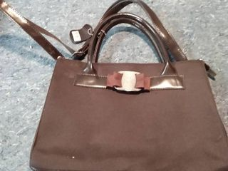 Dark Brown Ferragamo Designer purse