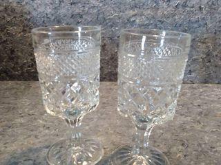 2 large Wexford Crystal Goblets