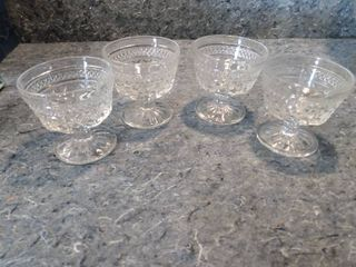 4 Small Wexford Crystal Serving Dishes