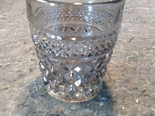 1 Small Wexford Crystal Pewter mist Drinking Glass