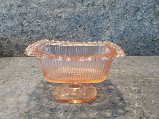 Old Colony lace Pink Depression Glass Candy Dish