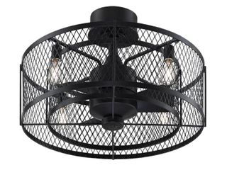Fanimation Studio Collection Vintere 20 inch Ceiling Fan   Aged Bronze with lED  Retail 195 54