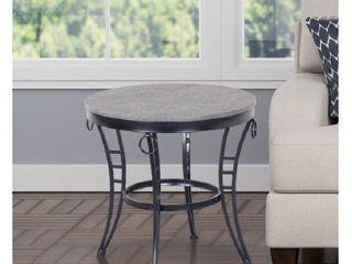 Porch   Den Erawan Emmerson Grey Round End Table  Retail 79 98