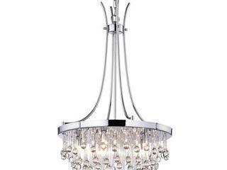 Chrome Adorea 5 light Crystal Chandelier Retail  128 99