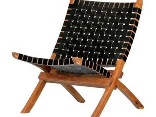 Black South Shore Balka Woven leather lounge Chair Retail  239 99