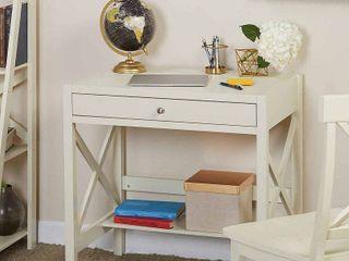 Antique White Simple living X Frame Farmhouse Wood Desk Retail  139 55