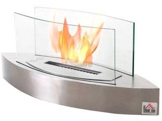 Natural Inox Strick   Bolton Harima Glass Bio Ethanol Tabletop Fireplace N A Retail  144 49
