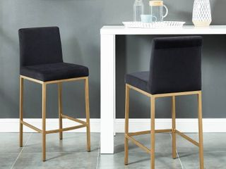 Gold Finish Diego 26 Counter Stool  Set of 2  Retail 338 49