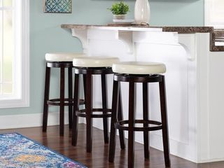 Copper Grove Bennery Backless Off white Swivel Seat Bar Stool  Retail 86 99