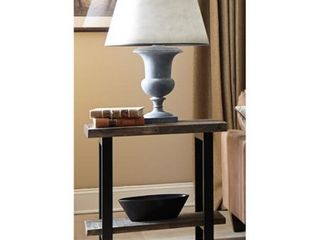 Carbon loft lawrence Metal and Reclaimed Wood End Table with Shelf  Retail 258 49