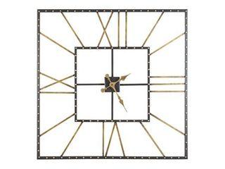 Thames Contemporary Black Gold Wall Clock   40  W x 1 5  D x 40  H  Retail 153 99
