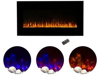 36 inch Electric Fireplace Wall Mounted  lED Fire   Ice Flame  With Remote by Northwest Retail  297 49