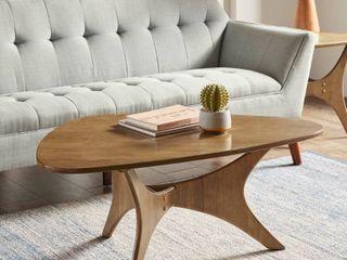 Carson Carrington Telsiai Brown Triangle Wood Coffee Table   Retail 139 99