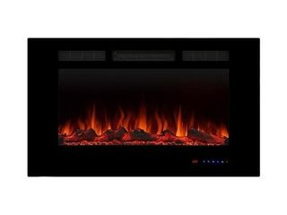 36  Electric Fireplace Heater Recessed  Wall Mounted 750W 1500W  Retail 283 75