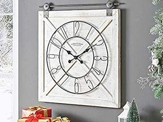 FirsTime   Co  Farmstead Fir Wood Barn Door Wall Clock  Retail 107 49
