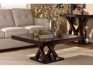 Contemporary Dark Brown Coffee Table by Baxton Studio  Retail 98 49